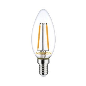 Noxion Lucent Filament LED Candle 2.5W 827 B35 E14 Helder | Zeer Warm Wit - Vervangt 25W