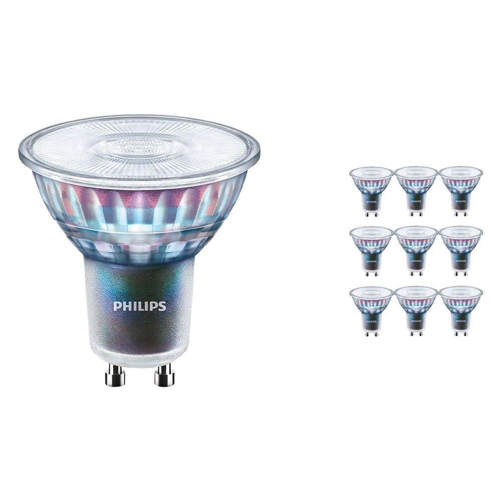 Voordeelpak 10x Philips LEDspot ExpertColor GU10 5.5W 927 25D (MASTER) | Beste Kleurweergave - Zeer Warm Wit - Dimbaar - Vervangt 50W