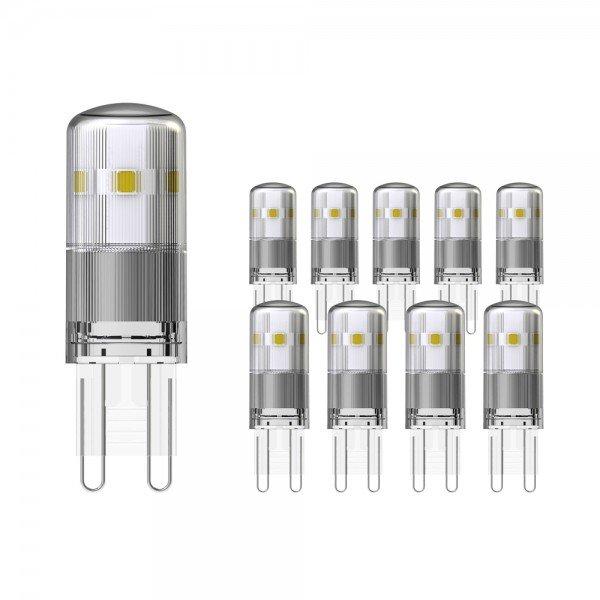 Voordeelpak 10X Noxion LED Bolt G9 1.9W 827 | Zeer Warm Wit - Vervangt 21W