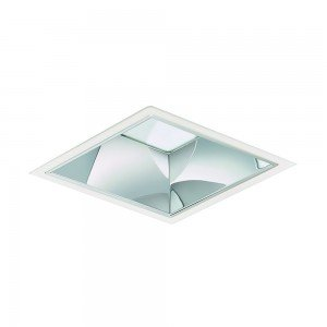 Philips LED Downlight LuxSpace Squared DN572B LED24S/830 2400lm IP20 C ELP3 IA1 Wit   Dimbaar - Warm Wit