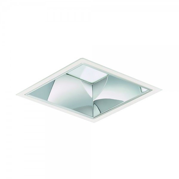 Philips led downlight luxspace squared dn572b led24s/830 2400lm ip20 psd-vlc-e c wit   dali dimbaar - warm wit