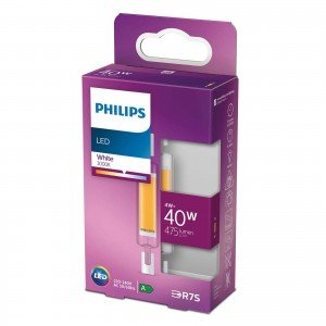 Philips LED staaflamp R7S 78mm 4W warmwit