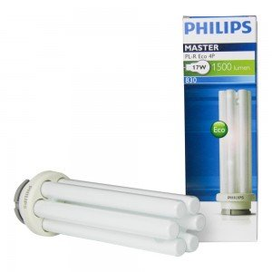 Philips PL-R Eco 17W 830 4P (MASTER)   Warm Wit - 4-Pin